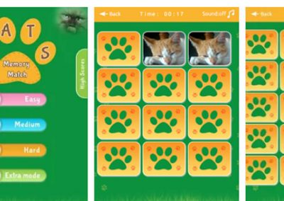 Cats Memory Match Game